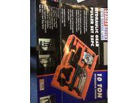 Hydraulic gear puller set, 25 pc = 10 Ton