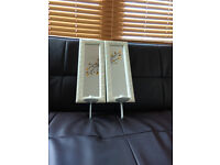 Small white mirros with candle holders (16x40cm)
