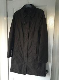 Ladies size 12, longer length brown Barbour jacket