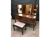 Fabulous Stag Minstrel mid century dressing table with stool by