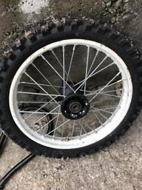 Pitbike front wheel