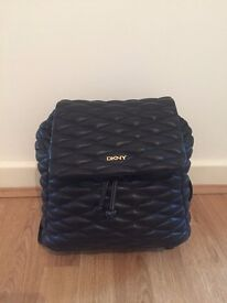 DKNY Gansevoort black quilted leather backpack