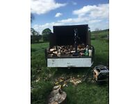 Log splitter hire with operative