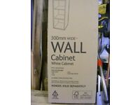 B&Q white 300mm Wall Cabinet Boxed
