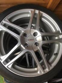 """17"""" Dezent alloy wheels with tyres"""
