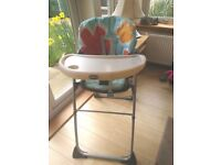CHICCO RECLINING HIGH CHAIR WITH REMOVABLE TRAY