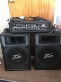 Peavey MP4 amplifier and speakers also cub 30 combo amplifier