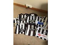 7 Newcastle football shirts