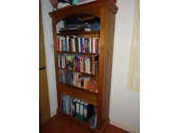 Solid Old Pine Bookcase