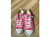 Ladies pink, size 7 converse.