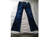 PEPE PIMLICO Boot Cut / Flare Dark Blue / Navy Ladies Jeans W 31 L32