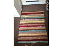 Colourful Cotton Rug made from recyled mixed fibres