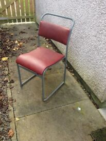 Industrial Stacking Cafe Chairs x19