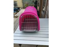 Pet carrier with flap
