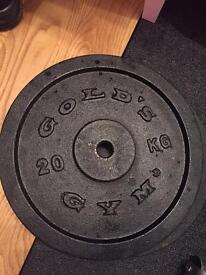 2x 10kg 2x5kg cast iron weight plates