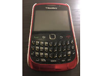 Red BlackBerry Curve 9300