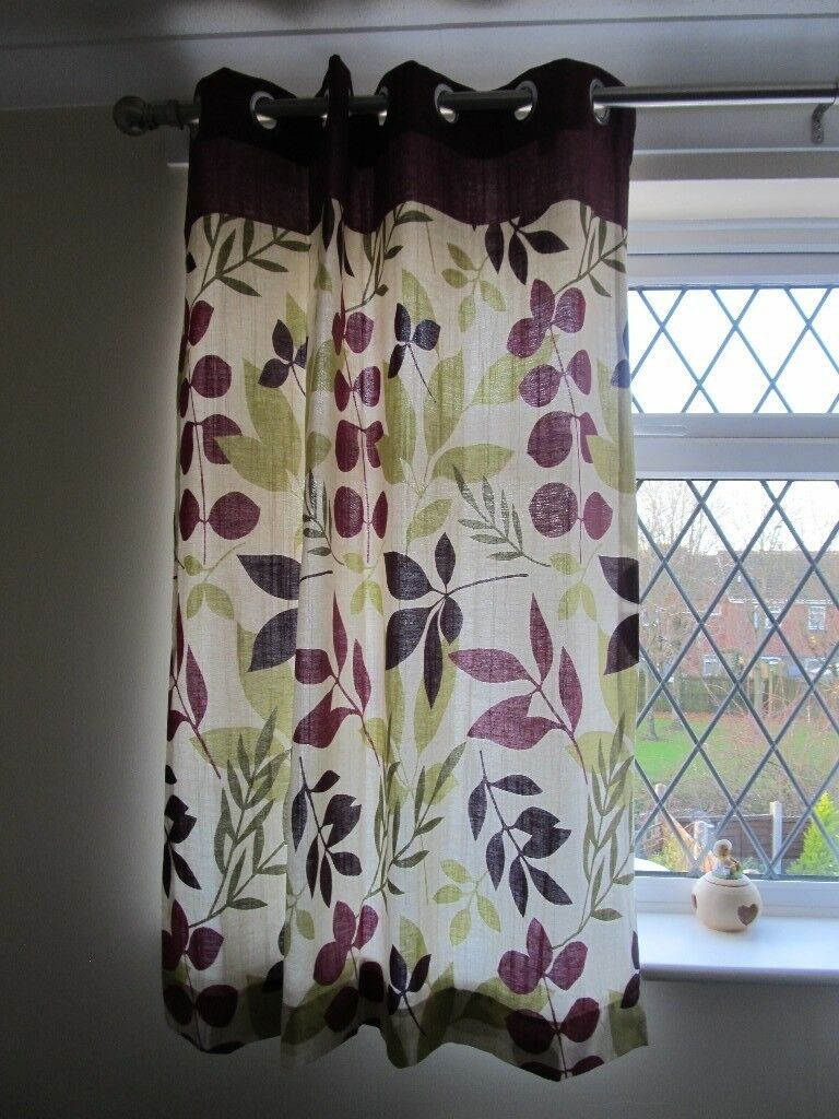 ALMOST NEW CURTAINS 45 WIDE X 54 LONG INCHES