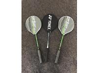 Yonex & x2 Carlton Badminton Rackets