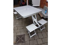 Aluminium Folding picnic Table and 4 chairs
