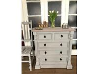 "Pine chest ""Paris Grey""Free Delivery Ldn🇬🇧shabby chic"