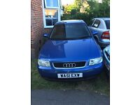 Audi A3 with mot running clean bodywork