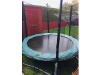 8ft Plum trampoline with enclosure