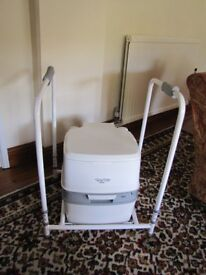 Thetford 165 portable toilet and frame for disabled or elderly use.