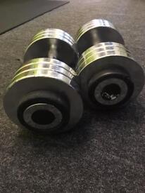 32.5kg Metal Dumbbells