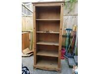 SOLD!!!! Tall Mexican pine effect bookcase SOLD!!!!