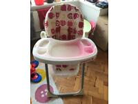 Girls cosatto high chair
