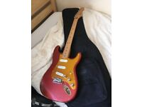 Stratocaster international usa body, mexican neck, electrics in a faraday cage