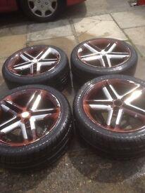 tyres on wheel