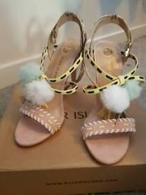River island pom pom heels