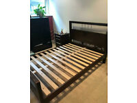 Stylish Wooden Double Size Bed Frame Good Condition Delivery Possible