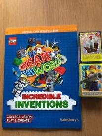 Sainsburys Lego book and cards
