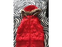 Girls Red gilet size 4-5 years old, excellent condition