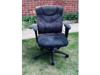 Faux leather/suede office chair.......good condition