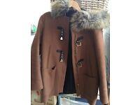 Zara duffle coat size small