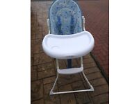 Baby high chair free to go to a good home.
