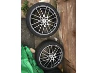 "17"" alloy wheels with brand new tyres"