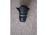 Canon 10m -22mm wide angle lens. Excellent condition, includes lens hood.