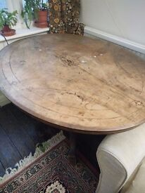 French in-laid 200 year old dining table