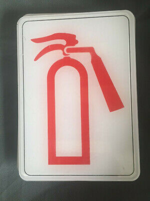 Fire Extinguisher Sign Plastic 5 X 7 New