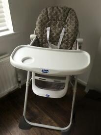 Child's Chicco Highchair for sale- as new condition