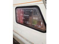 ABI Monza caravan front offside window.
