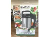 SALTER LETS GO HEALTHY DIGITAL SOUP/SMOOTHIE MAKER, used twice only, dont like homemade soup!
