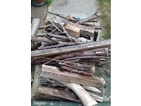 Large pile firewood, ideal for fire pit