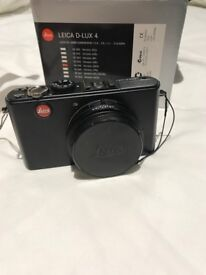Leica D-LUX 4 10.1MP Digital Camera - Black ; 90% new ; Original Box , Case included