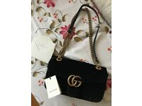 Gucci Marmont Bag Black Velvet 26cm *OPEN TO OFFERS*