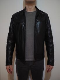 SHEEPSKIN LEATHER JACKET IN PERFECT CONDITION, SIZE MEDIUM